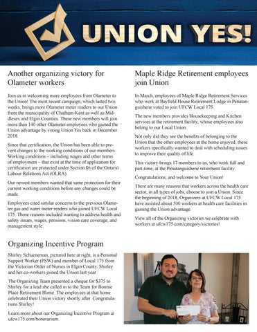 Page 7 of Union Yes! Welcome to our newest members