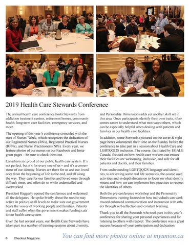 Page 8 of Annual Health Care Stewards Conference