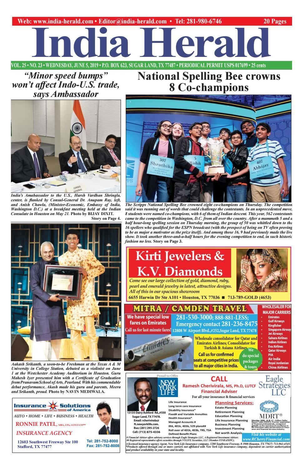 India Herald 060519 by India Herald - issuu