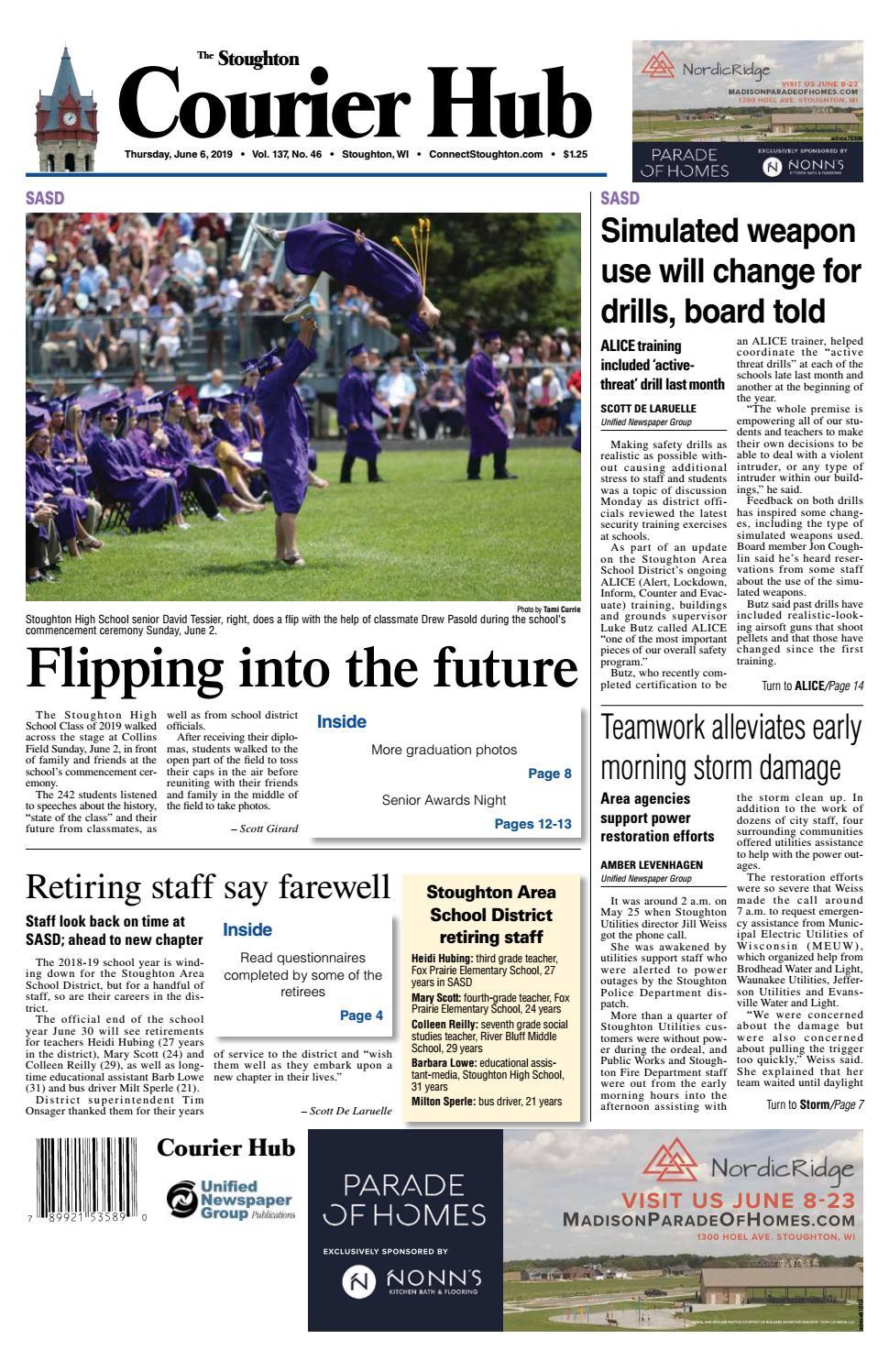 6/6/19 Stoughton Courier Hub by Woodward Community Media - issuu
