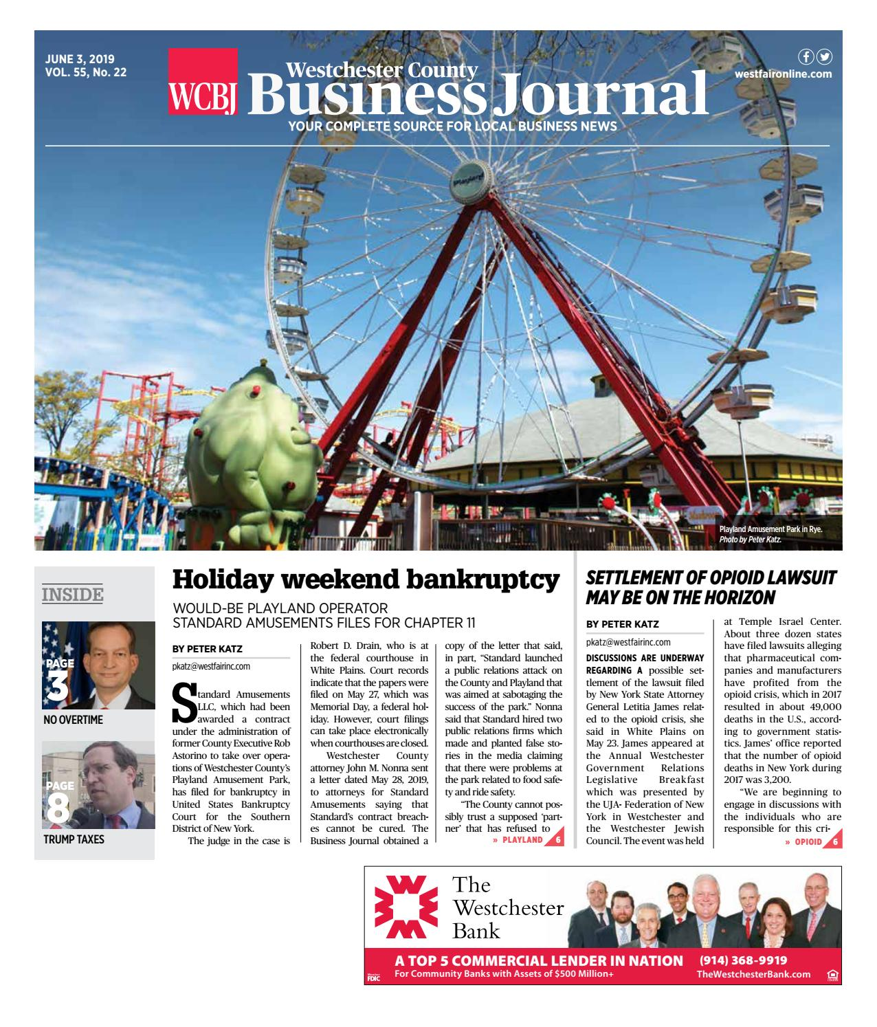 Westchester County Business Journal: 060319 by Wag Magazine - issuu
