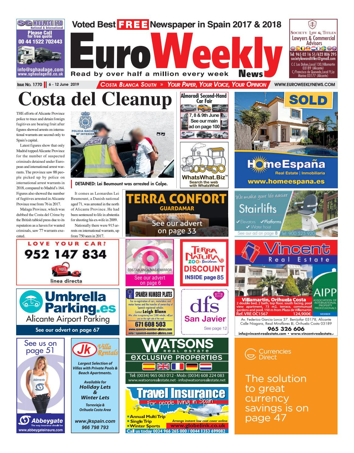 Animal Crossing Drawing Blanca Face Porn euro weekly news - costa blanca south 6 - 12 june 2019 issue