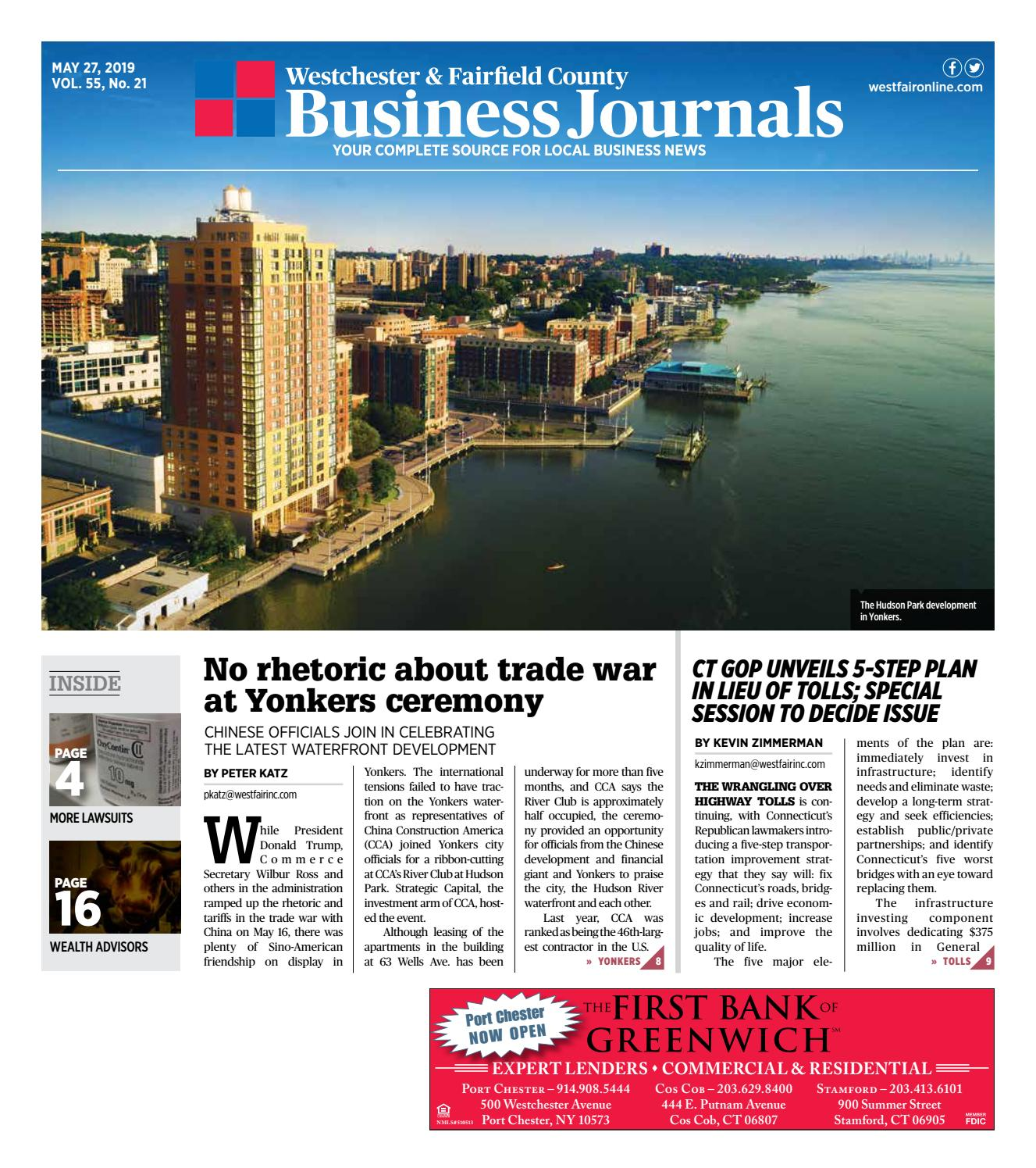 Westchester and Fairfield County Business Journals 052719 by