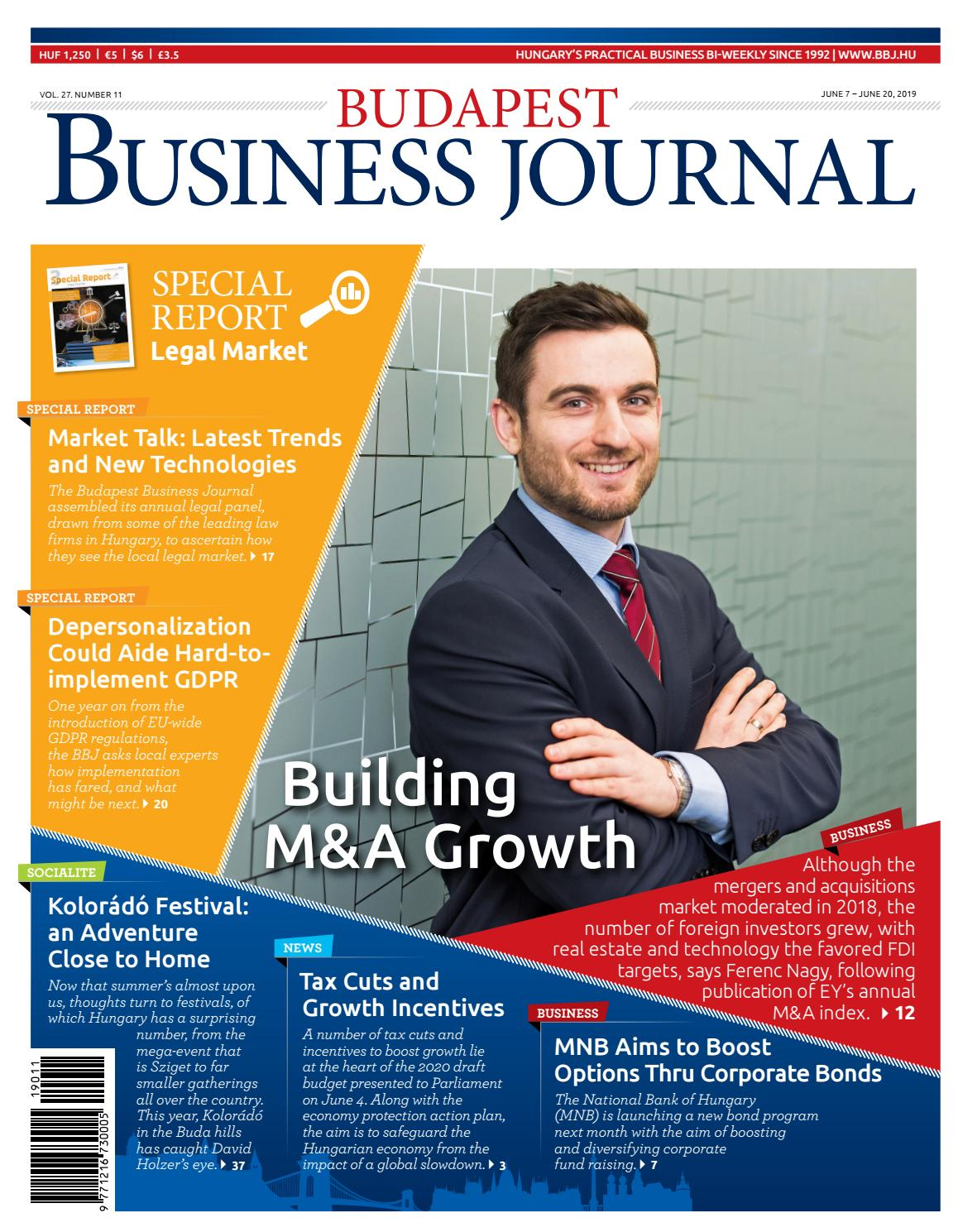 Budapest Business Journal 2711 By Business Publishing Services Kft