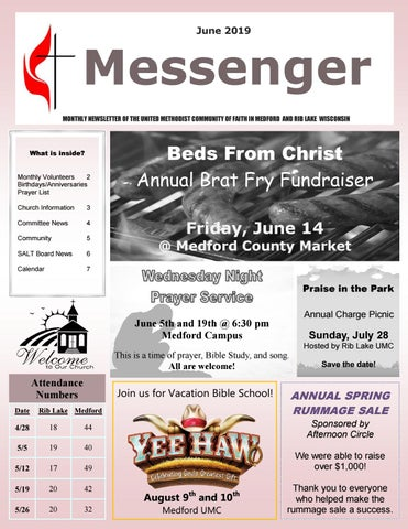 The Messenger - June 2019 by United Methodist Church - Medford and