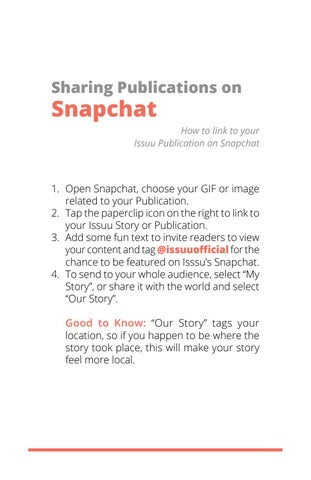 Page 14 of Sharing Publications on Snapchat
