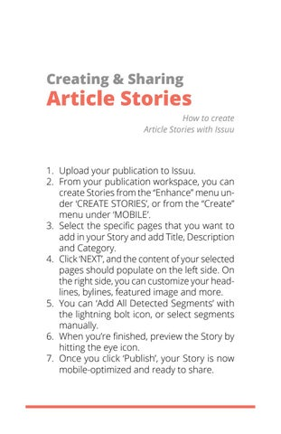 Page 4 of Creating & Sharing Article Stories