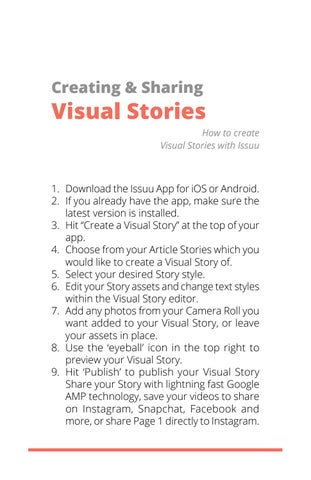 Page 7 of Creating & Sharing Visual Stories