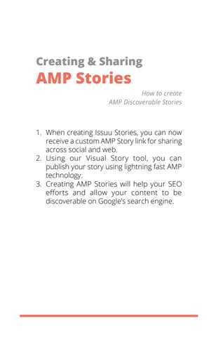 Page 8 of Creating & Sharing AMP Stories