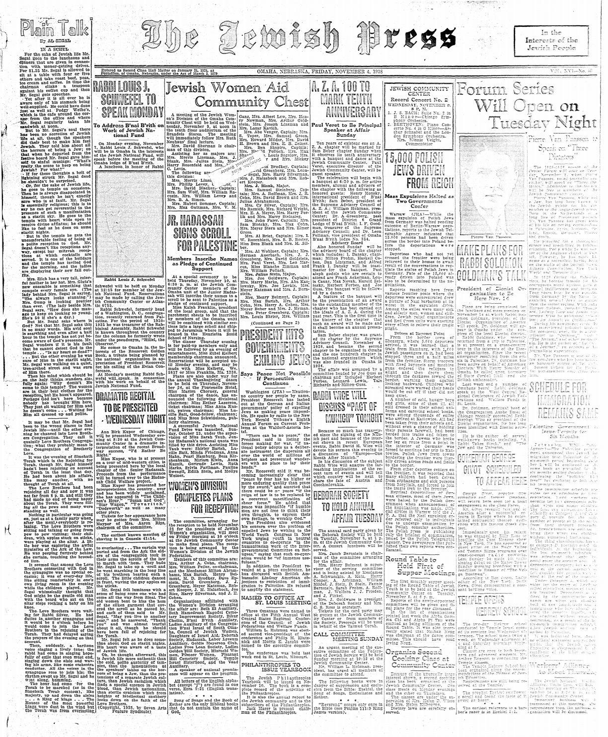 November 4, 1938