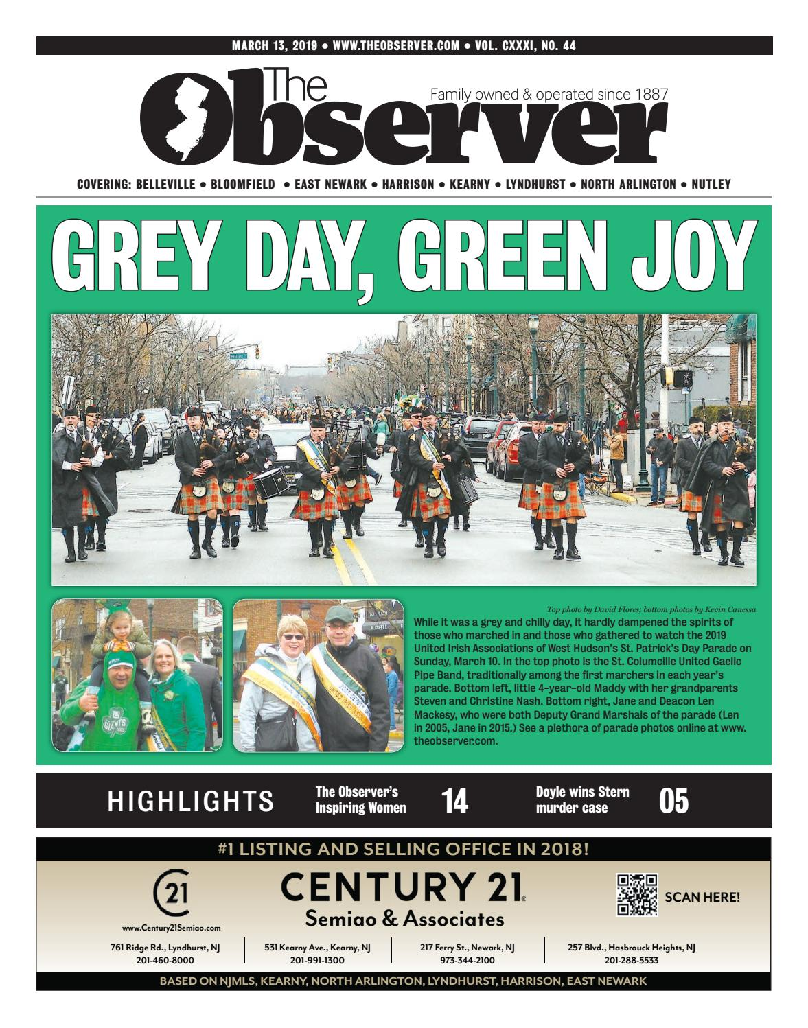 March 13, 2019 e-Edition of The Observer by Kevin Canessa Jr