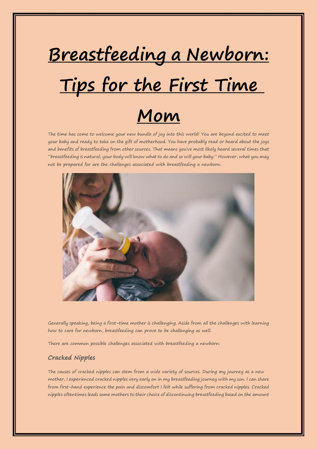 Breastfeeding a Newborn: Tips for the First Time Mom by