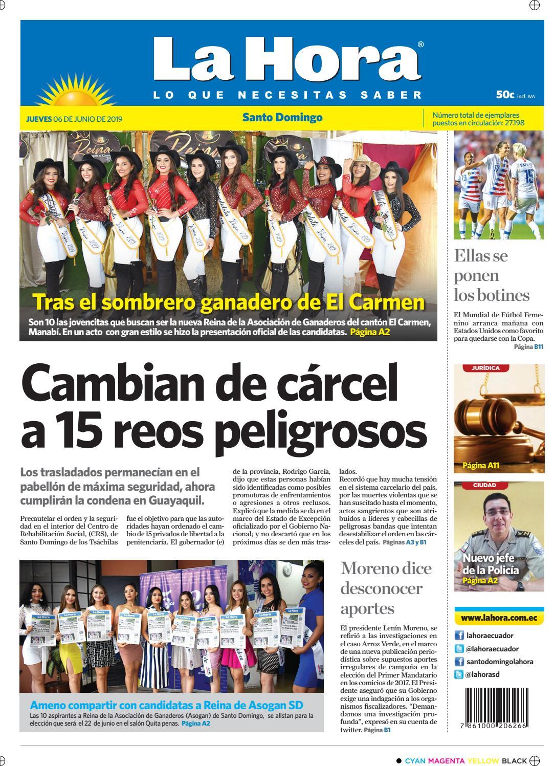 cbe466de Santo Domingo 06 de junio de 2019 by Diario La Hora Ecuador - issuu