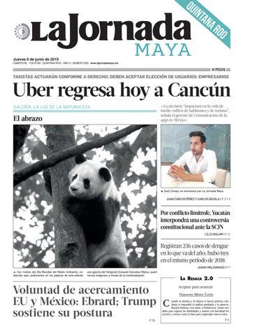 8ec6c7312a La Jornada Maya · jueves 6 de junio de 2019 by La Jornada Maya - issuu