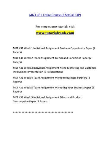MKT 431 Social Responsibility / tutorialrank com by m a c