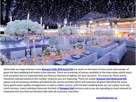 Banquet Hall Thornhill Vaughan Wedding Venues By Chistiano Blunt
