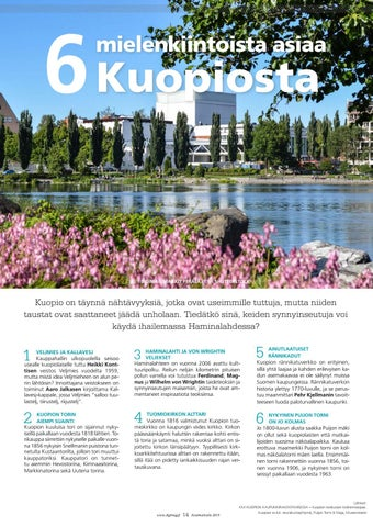 Page 14 of 6 mielenkiintoista asiaa Kuopiosta