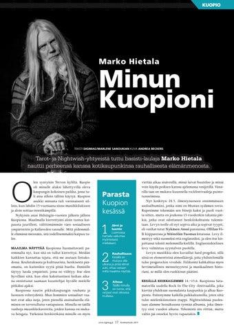Page 17 of Marko Hietala - Minun Kuopioni