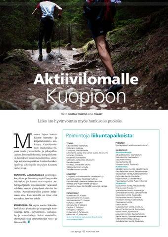 Page 42 of Aktiivilomalle Kuopioon
