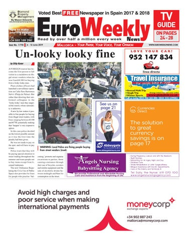 Euro Weekly News - Mallorca 6 - 12 June 2019 Issue 1770 by Euro
