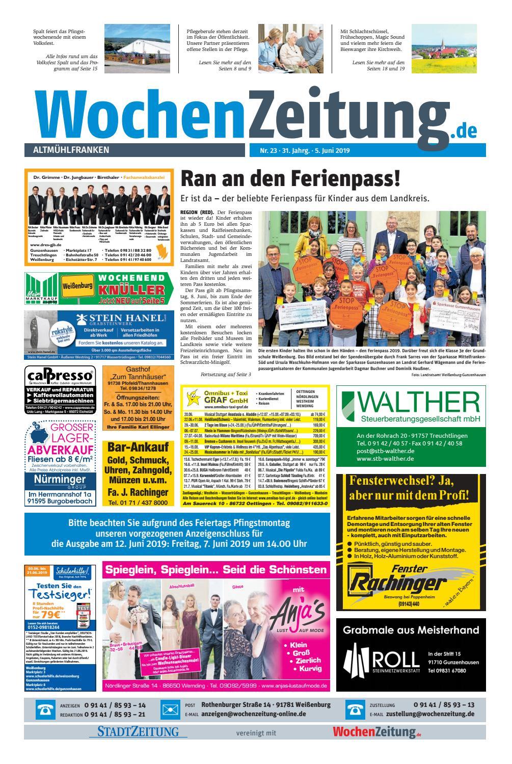 50037973a4a909 WochenZeitung Altmuehlfranken KW 23.19 by WochenZeitung ...