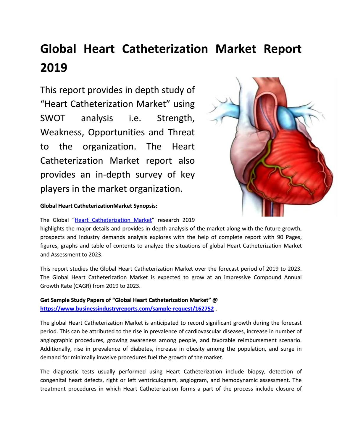 Global Heart Catheterization Market Future Forecast 2019