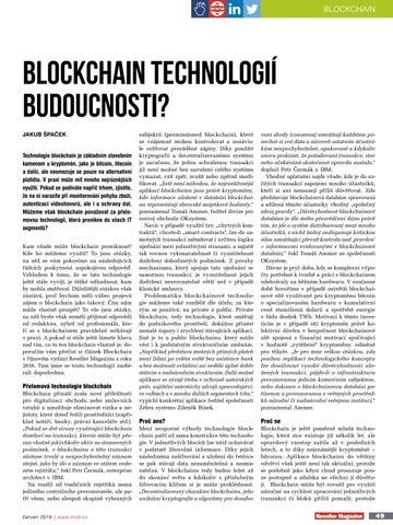 Page 49 of Blockchain technologií budoucnosti?