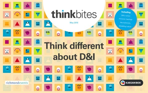 Think different about D&I - thinkbites May 2019 issue by Karian and