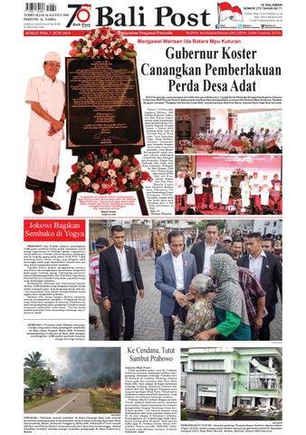 Edisi Jumat 7 Juni 2019 Balipost Com By E Paper Kmb Issuu