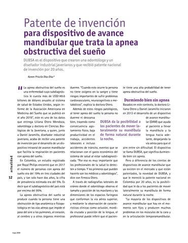 Page 12 of Patente de invención para dispositivo de avance mandibular que trata la apnea del sueño