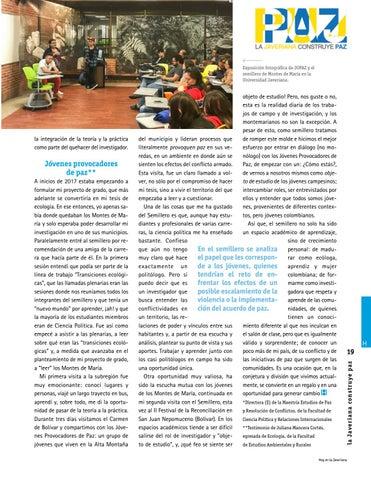 Page 19 of Jóvenes rurales y urbanos construyen paz territorial