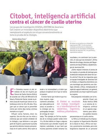 Page 6 of Inteligencia artificial contra el cáncer de cuello uterino