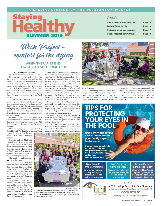 Staying Healthy - Summer 2019 by Pleasanton Weekly - issuu