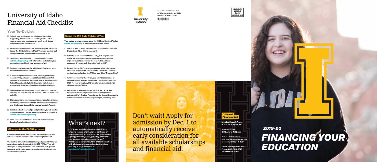 2018-19 Financing Your Education by The University of Idaho