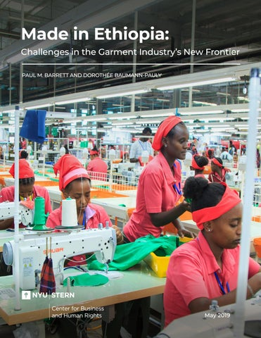 Made in Ethiopia: Challenges in the Garment Industry's New Frontier