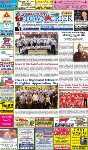 MAY 15, 2019 by Starr County Town Crier - issuu