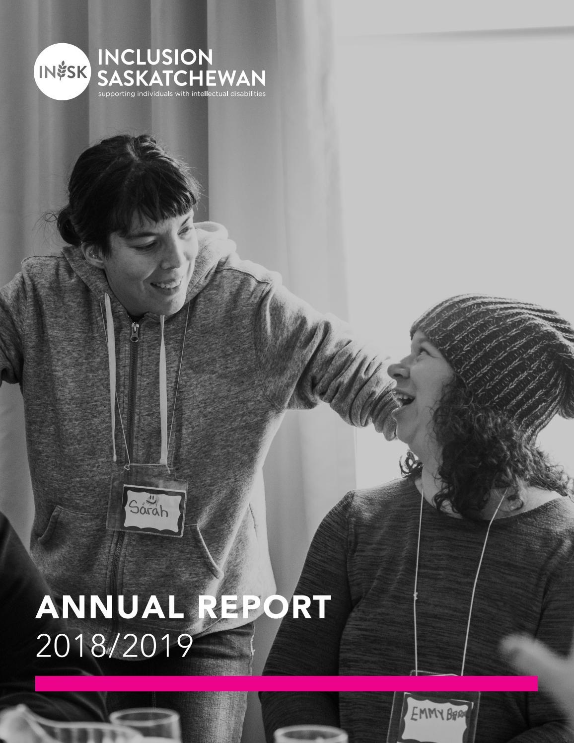 Annual Report 2018 2019 By The Saskatchewan Association For Community Living Issuu