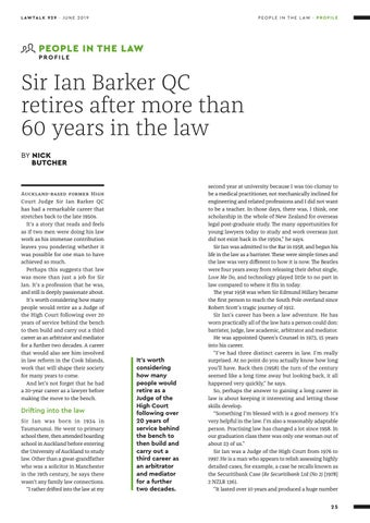 Page 25 of · Sir Ian Barker QC retires after more than 60 years in the law ▹ BY NICK BUTCHER 28 · Fizzy drinks, baked beans and