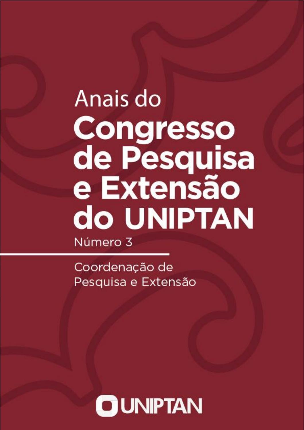 Anais Do 3º Congresso De Pesquisa E Extensão Do Uniptan By