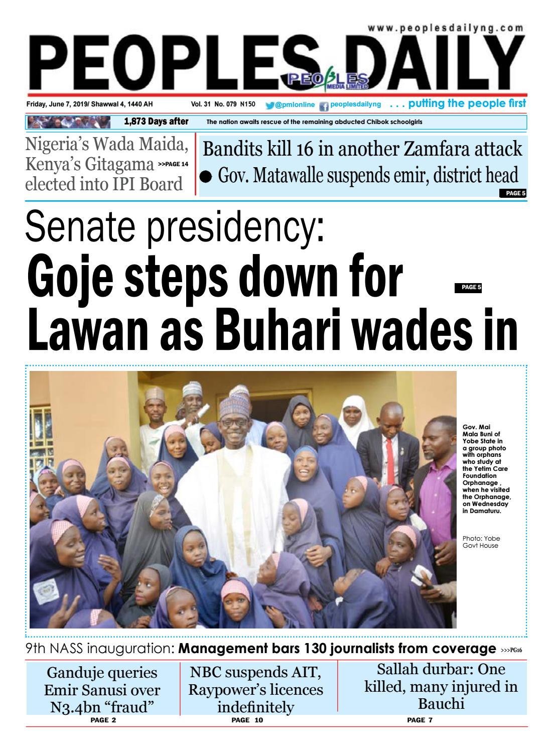 Friday, June 7, 2019 Edition by Peoples Media Limited - issuu