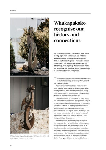 Page 48 of Whakapakoko recognise our history and connections