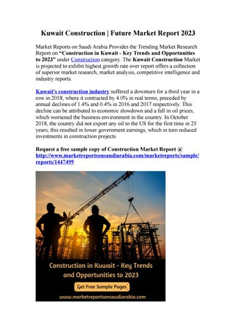 Kuwait Construction | Future Market Report 2023 by sharonwilliams