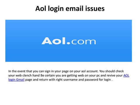 Aol Com Email login Screen Issues by johnhal538 - issuu