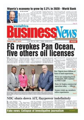 Westafrica BusinessNews Friday, June 07, 2019