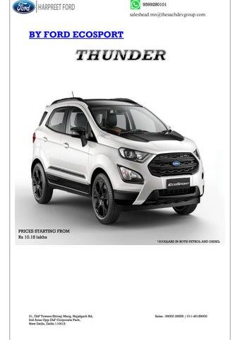 Ford ecosport thunder
