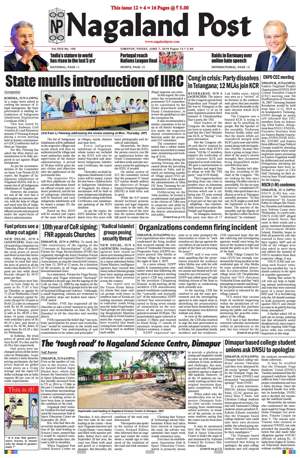 June 7, 2019 by Nagaland Post - issuu