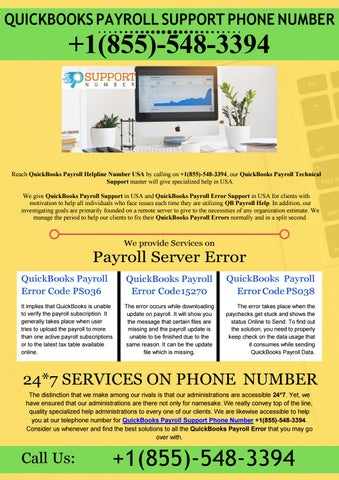 QuickBooks Payroll Support Phone Number | +1855-548-3394 by