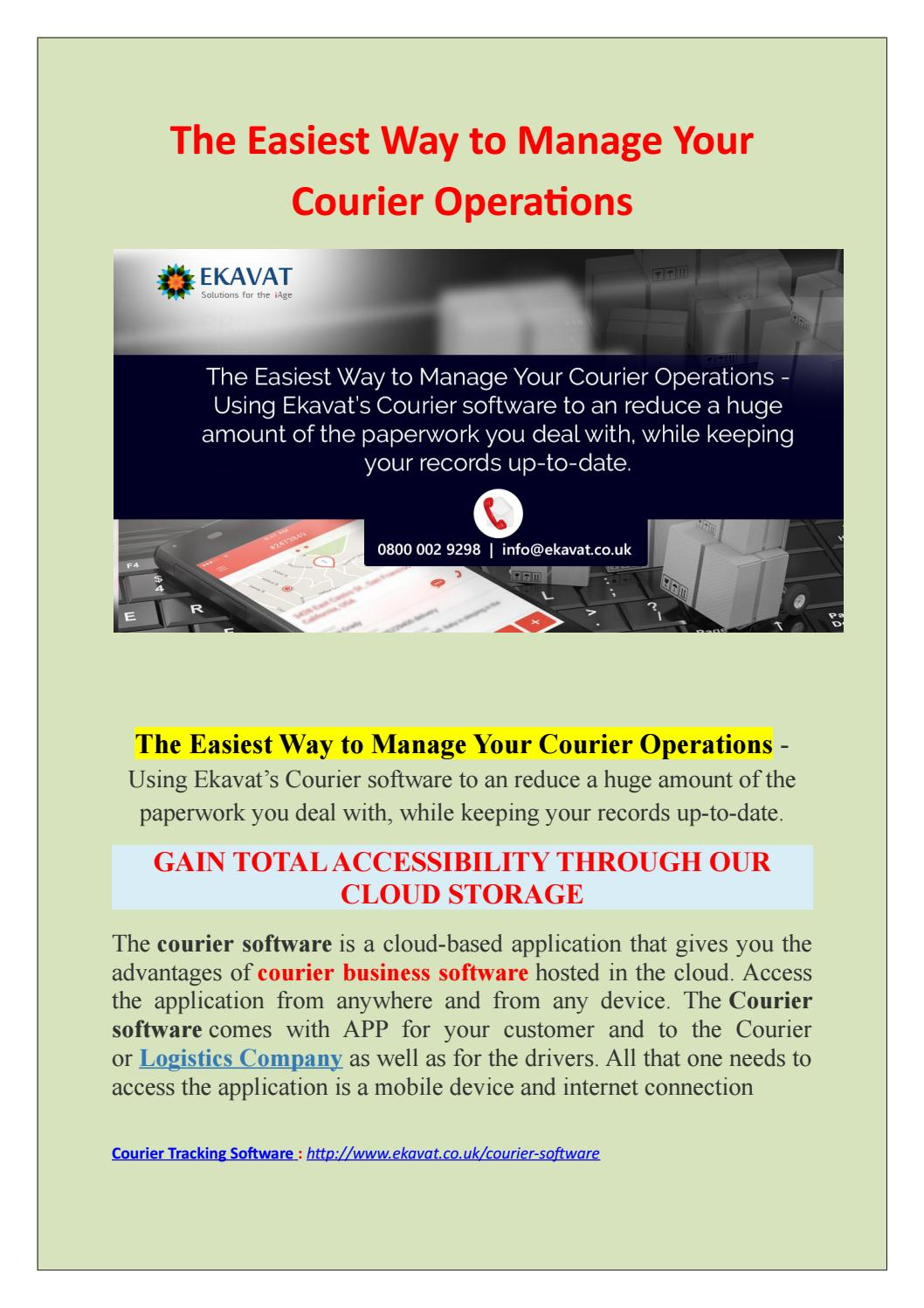 The Easiest Way to Manage Your Courier Operations - Courier Software  UK|courier billing software