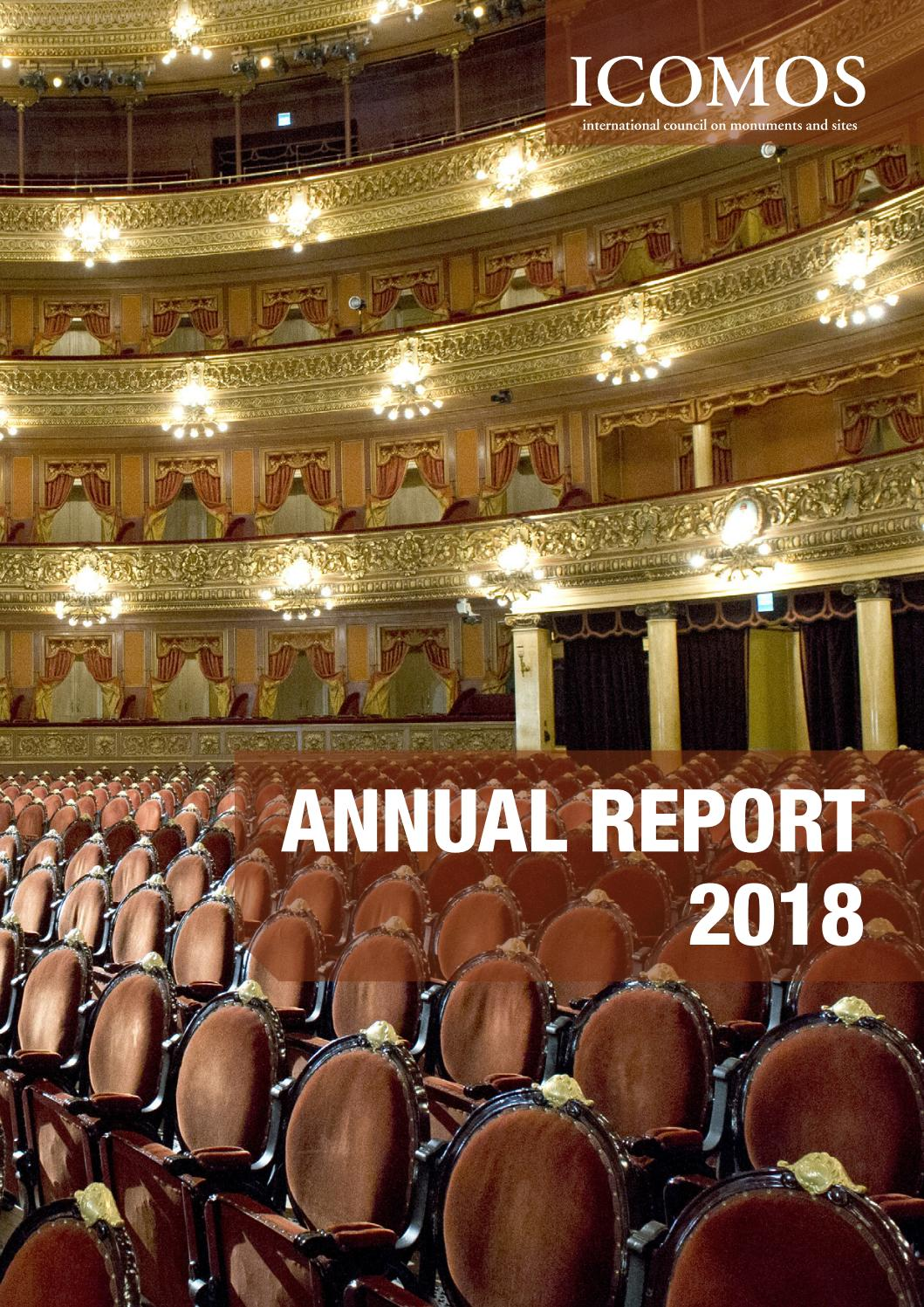 2018 ICOMOS Annual Report by ICOMOS International Council on