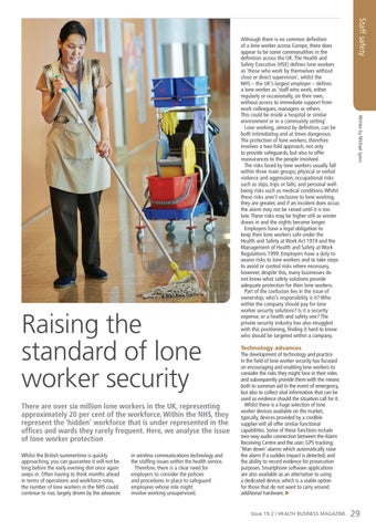 Page 29 of Raising the standard of lone worker security